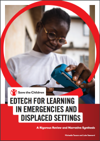 Edtech for Learning in Emergencies by STC cover
